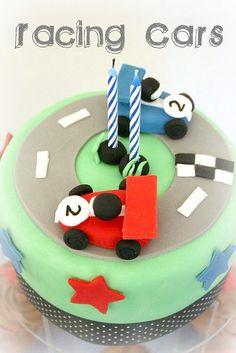 Racing Car Birthday Cake by B (Jen & Sarah), via Flickr
