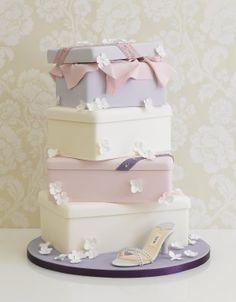 Shoe Box Wedding Cake