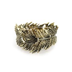 Shyanne Gold-Tone Feather Bracelet