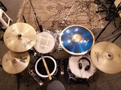 """#Repost @luisdalf This was my last configuration for recording the 5 songs of my band EP! 14"""" K Zildjian Hi Hats / 16"""" A Zildjian Medium Thin Crash Avedis Zildjian / 18"""" A Zildjian Thin Crash Avedis Zildjian / 22"""" Blue Bell Paiste Ride Ludwig Special Edition drumset Pearl Snare 5BN Vic Firth drumsticks with my 202 HD Sennheiser... At the studio recording! #Ludwig #Ludwigdrums #Zildjian #ZildjianCymbals #KCustom #VicFirth #5BN #MyPerfectPair #Remo #Bateria #Drum #Drums #Drumporn #Drumlife…"""