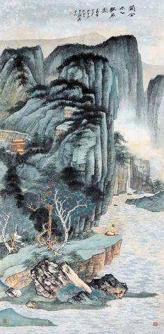 著名画家张大千经典作品欣赏 组图