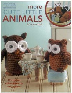 Learn how to crochet these cute owls! http://www.maggiescrochet.com/collections/crochet/products/more-cute-little-animals-to-crochet