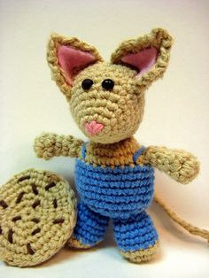 """Free pattern to crochet """"Mouse"""" from """"If you Give a Mouse a Cookie"""".  Make one to give with the book for a one of a kind Christmas gift!"""