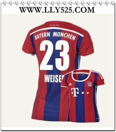 Personnaliser Maillot de foot Femme Bayern Munich 2014 2015 Domicile Maillot de foot Femme Pas cher 2014 2015