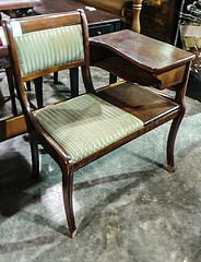 Telephone Table with green Striped Cushion
