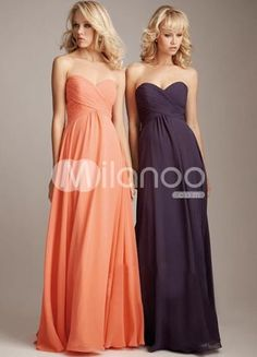 great colors for a fall wedding...navy and coral bridesmaid dresses