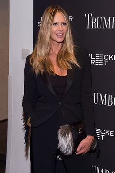 Model Elle Macpherson attends the 'Trumbo' New York premiere at MoMA Titus One on November 3 2015 in New York City