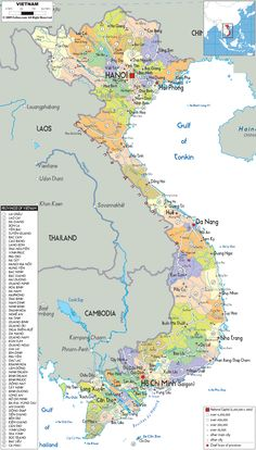 Map Of Vietnam And Vietnam Political Map