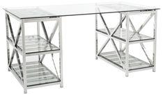 Nelson Computer Desk in Silver