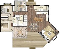 Spacious cottage design suitable for year-round living #stillwater #gourmetkitchen #yearroundliving http://bit.ly/1CPM1i8