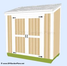 This lean to garden shed can be put up against your home or the fence. This shed will not take up all your garden space.