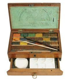Howards Mahogany Watercolour Box. c1857 | ephemera | Pinterest