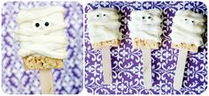 ghost rice krispie treats on a stick!