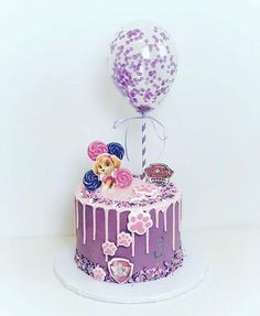 """""""Paw Patrol is on a roll!"""" If you have a kiddo who wishes they lived in Adventure Bay with six dogs and a best friend named Ryder, it may be time to Girls Paw Patrol Cake, Paw Patrol Birthday Girl, Paw Patrol Cupcakes, Paw Patrol Torte, Skye Paw Patrol Cake, Little Pony Cake, 4th Birthday Cakes, Balloon Cake, Drip Cakes"""