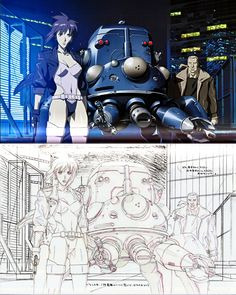 Groundworks of Ghost in the Shell - Stand Alone Complex Art Book - Anime Books