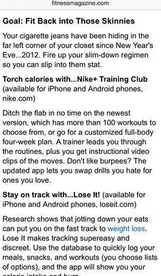 Page 1 apps for exercise and tips to be get health Exercise Apps, Cigarette Jeans, How To Slim Down, Nike, Health And Beauty