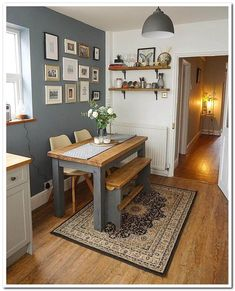 Small Eat In Kitchen Table Ideas. 20 Small Eat In Kitchen Table Ideas. 20 Small Eat In Kitchen Ideas & Tips Dining Chairs Small Kitchen Diner, Eat In Kitchen Table, Small Kitchen Tables, Small Apartment Kitchen, Kitchen Decor, Small Cottage Kitchen, Kitchen Table Decorations, Country Kitchen, Kitchen Corner Booth