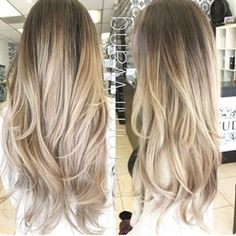 Ash blonde and gold ombre hair, balayage clip in hair extensions, dark ❤ li Dark Ash Blonde Hair, Blonde Ombre, Ombre Bob, Golden Blonde, Blonde Asian Hair, Neutral Blonde, Light Blonde, Short Blonde, Blonde Balayage Highlights On Dark Hair