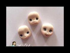 How to make a simply face doll tutorial polymerclay - face number one - YouTube