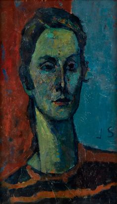 Portrait of a Woman, Joseph Solman
