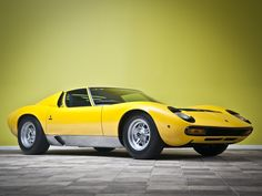 Photos of Lamborghini Miura SV Prototipo 1971 Lamborghini Miura, Car Tuning, Concept Cars, Cars Motorcycles, Yellow, Vehicles, Car Stuff, Grease, Lp