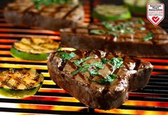 Grilled Tuna Steaks with Cilantro and Basil recipe made with canola oil