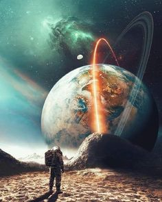 I look for you among clusters, Galaxies and cosmic systems, On an interstellar trip, For the vast and infinite cosmos. Planets Wallpaper, Wallpaper Space, Galaxy Wallpaper, Astronaut Wallpaper, Space Artwork, Moon Photography, Galaxy Art, Earth From Space, Surreal Art