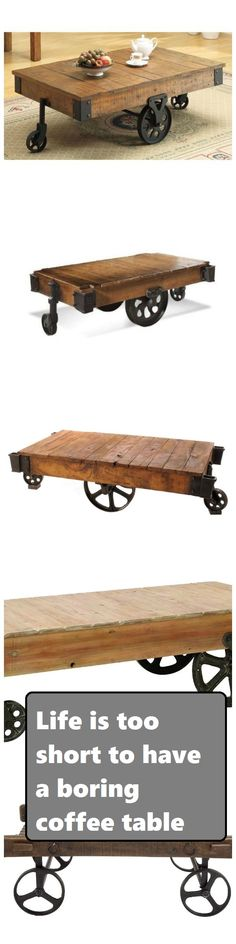 Fine 8 Best Railroad Cart Coffee Tables Images Cart Coffee Interior Design Ideas Tzicisoteloinfo