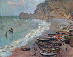 1883 Claude Monet Beach at Etretat(d'Orsay)(65 x 81 cm). Pinterest