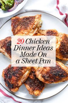 When deciding what to make for dinner, you can never go wrong with chicken, especially when it's a whole meal cooked on just one sheet pan. These 20 fast and healthy chicken sheet pan dinners are great for easy meal prep, and are exactly what we need to usher us through the busy week. #sheetpanrecipes #chickenrecipes #dinnerrecipes