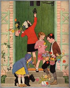 May Day...my mom always made a basket of fresh flowers for my grandmother that we would secretly leave on the doorknob at her house.  So fun!