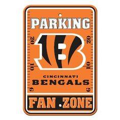 The Cincinnati Bengals Fan Zone Parking Sign