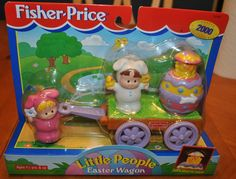 FISHER PRICE LITTLE PEOPLE EASTER WAGON RARE RELEASED IN 2000 #FisherPrice