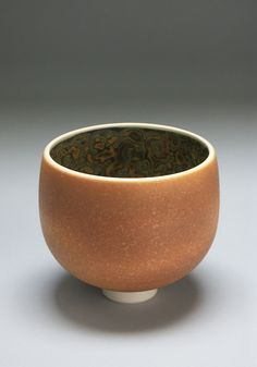 Untitled Bowl, c. 2000; porcelain, rust and robin's egg blue; Collection of Bill Burke 2009.2.0094