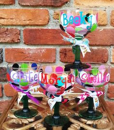 Personalized Margarita Glasses, Custom, Party Glass for Birthday, Fiesta, Bachelorette, Summer, by the Pool