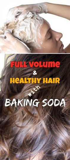 Full volume and healthy hair with baking soda!