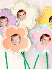 Mother's Day Craft :: Photo Flower Bouquet To Create With The Kids