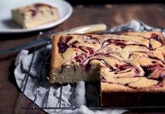 Seeing swirls: Brown butter and berry jam get together in this tender, moist cake.