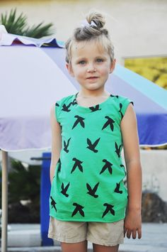 Mademoiselle Muscle Tee {Free pattern and Tutorial}