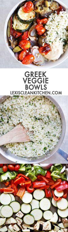 Greek Veggie Bowls [
