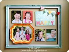 Colorful Framed Gallery Wall for Mother's Day thecraftingchicks.com