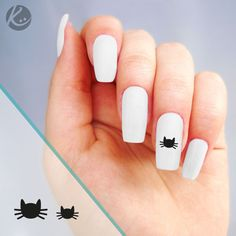 Stickers nail art pour ongles tête de chat disponibles sur www.optimistick.fr