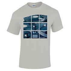 286cdf59b Men's Hip Hop Top DJ 1210 Record Decks T Shirt #1: Amazon.co.uk: Clothing