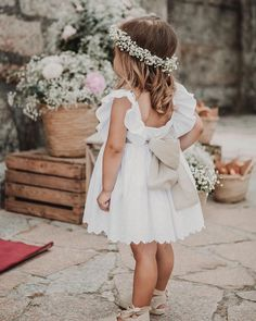 Wedding Dresses For Kids, Wedding With Kids, Boho Wedding, Dream Wedding, Relaxed Wedding, Wedding Bride, Rustic Wedding, Boho Flower Girl, Simple Flower Girl Dresses