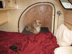 The Teardrop Trailer with an attachable pet pod!