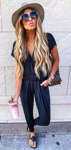 Gorgeous Spring Outfits To Copy Right Now black romper Crop Top Outfits, Trendy Outfits, Cute Outfits, Fashion Outfits, Black Outfits, Girl Outfits, Black Women Fashion, Look Fashion, Womens Fashion