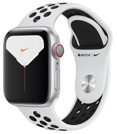Shop Apple Watch Nike Series 5 (GPS + Cellular) Silver Aluminum Case with Pure Platinum/Black Nike Sport Band Silver Aluminum at Best Buy. Find low everyday prices and buy online for delivery or in-store pick-up. Nike Watch, Apple Watch Nike, Apple Watch Bands, G Shock Watches, Casio G Shock, Ecg App, Bluetooth, Sport Armband, Clock Display