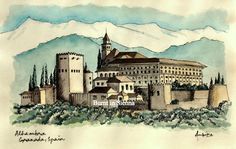 Alhambra Granada  Spain by ambikahere on Etsy, $23.00