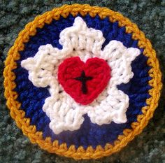 Luther's Rose in crochet | I made this symbol for E.L.C.A. L… | Flickr