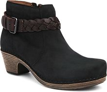 f8e87590e71c The Michelle - Classic ankle boot with a clog-inspired sole and braid  accent in